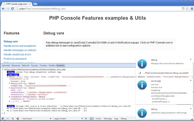 php-console-chrome